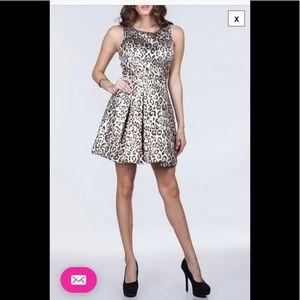 Ark & Company Leopard Print Jacquard Mini Dress